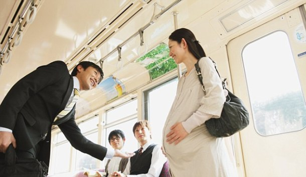 Train Manners --- Image by © Yosuke Tanaka/Aflo/Corbis